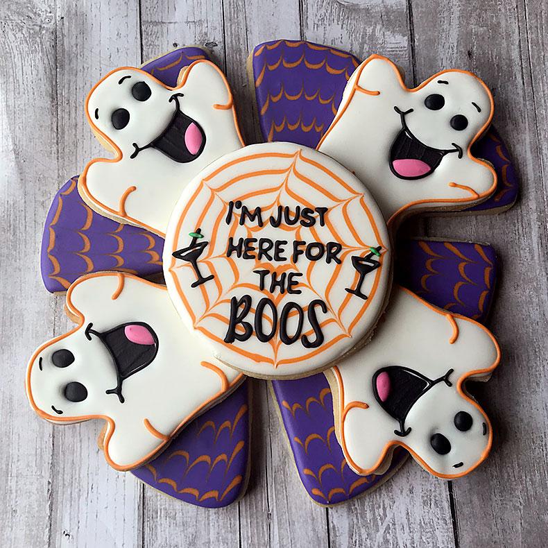 Sweetly in St. Louis by Rachel Katzman custom cookie platter for Halloween
