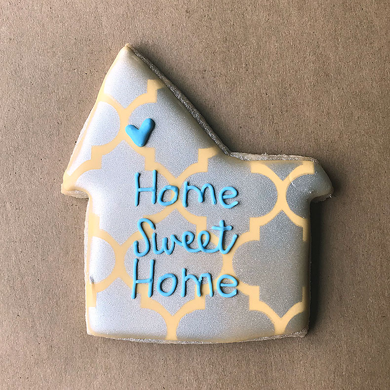 Sweetly in St. Louis by Rachel Katzman decorated cookies home sweet home