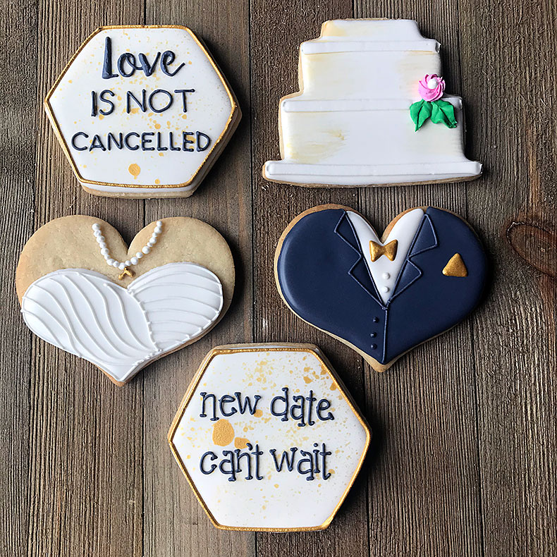 Sweetly in St. Louis by Rachel Katzman custom cookies for wedding shower